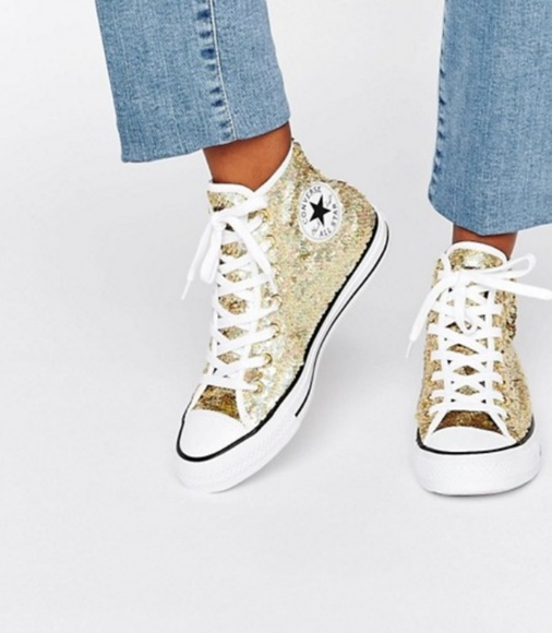 hoard as a rare commodity order online low price Converse gold sequin high tops NWT